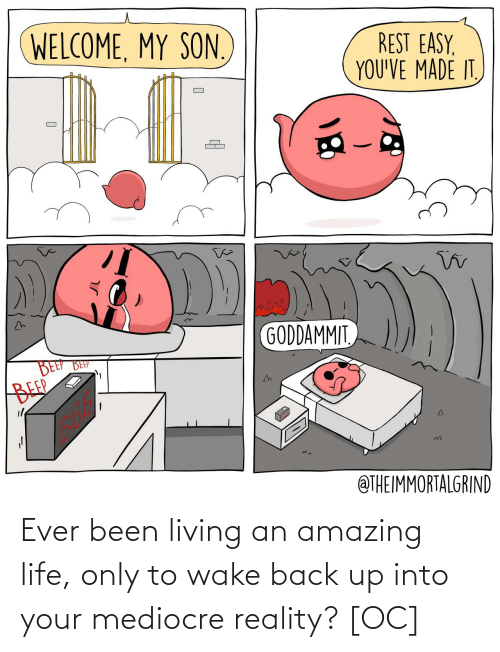 back up: Ever been living an amazing life, only to wake back up into your mediocre reality? [OC]