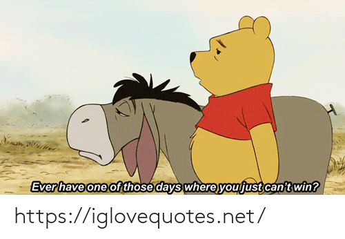 One Of Those: Ever have one of those days where you just can't win? https://iglovequotes.net/