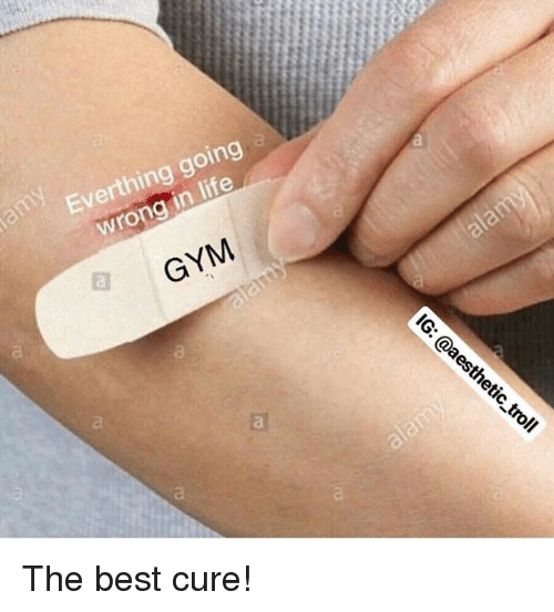 Gym, Life, and Best: Everthing going  wrong in life  GYM The best cure!