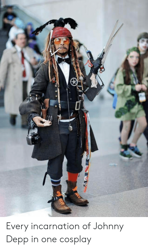 Johnny Depp, Cosplay, and One: Every incarnation of Johnny Depp in one cosplay