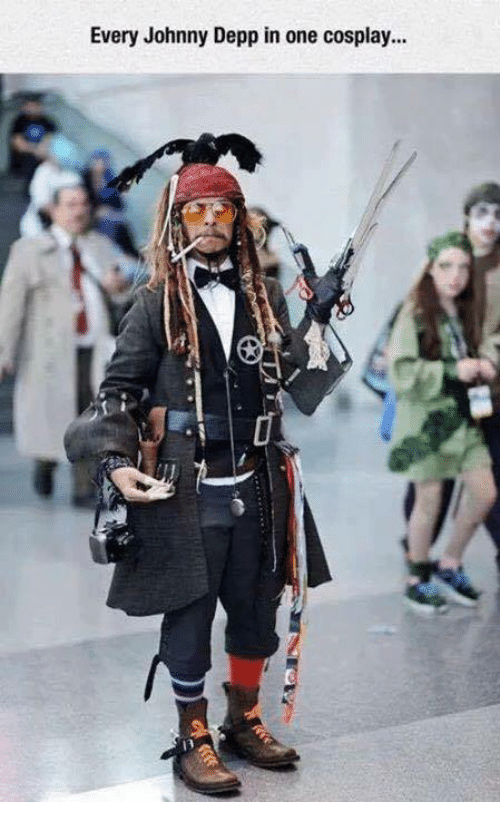 Johnny Depp, Memes, and 🤖: Every Johnny Depp in one cosplay...