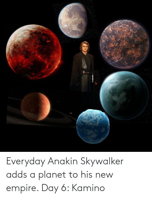 kamino: Everyday Anakin Skywalker adds a planet to his new empire. Day 6: Kamino