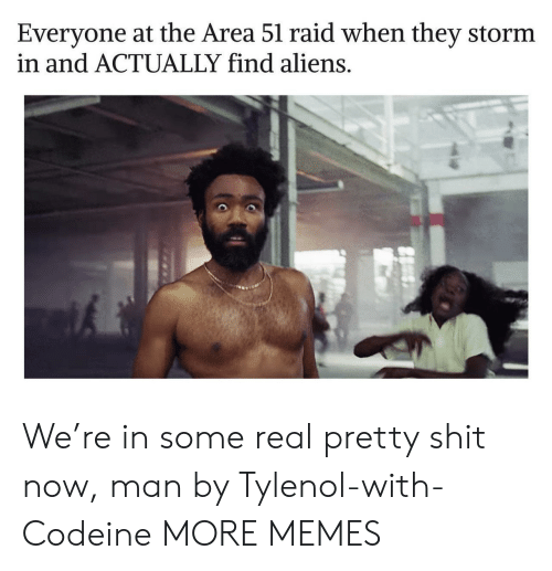 Dank, Memes, and Shit: Everyone at the Area 51 raid when they storm  in and ACTUALLY find aliens. We're in some real pretty shit now, man by Tylenol-with-Codeine MORE MEMES