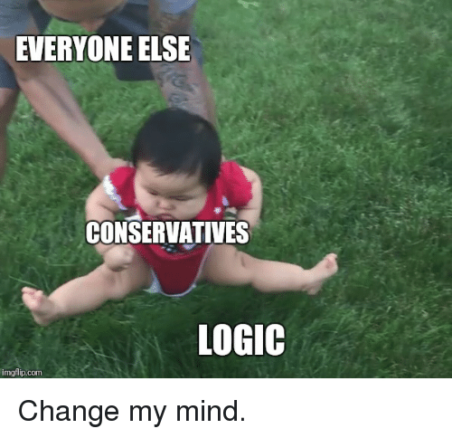 Logic, Reddit, and Change: EVERYONE ELSE  CONSERVATIVES  LOGIC  imgflip.com