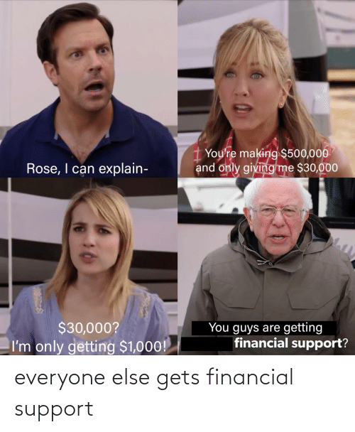 support: everyone else gets financial support