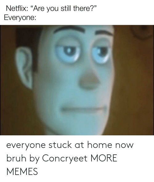bruh: everyone stuck at home now bruh by Concryeet MORE MEMES