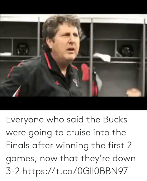 the finals: Everyone who said the Bucks were going to cruise into the Finals after winning the first 2 games, now that they're down 3-2 https://t.co/0Gll0BBN97