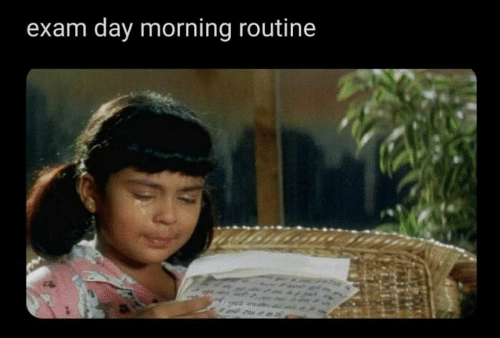 Day, Morning, and Morning Routine: exam day morning routine