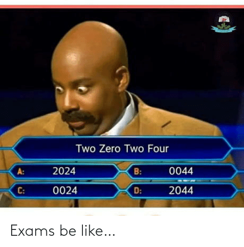 exams: Exams be like…