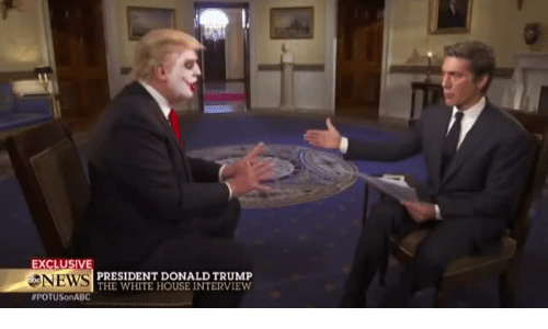 Donald Trump, News, and White House: EXCLUSIV  NEWS  #POTUSonABC  PRESIDENT DONALD TRUMP  THE WHITE HOUSE INTERVIEW