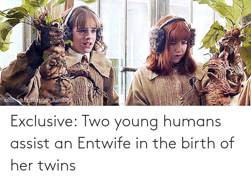Twins: Exclusive: Two young humans assist an Entwife in the birth of her twins