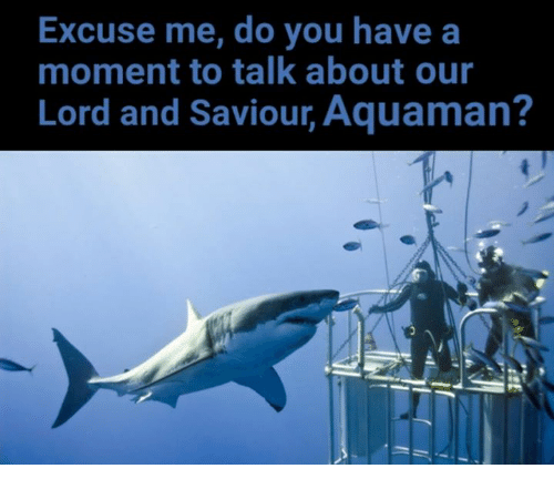 Lord And Saviour: Excuse me, do you have a  moment to talk about our  Lord and Saviour, Aquaman?