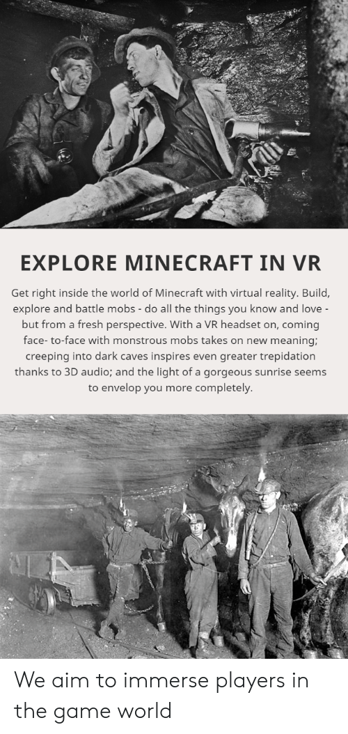 EXPLORE MINECRAFT IN VR Get Right Inside the World of Minecraft With