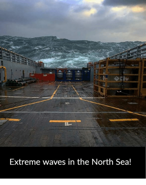 north sea: Extreme waves in the North Sea!