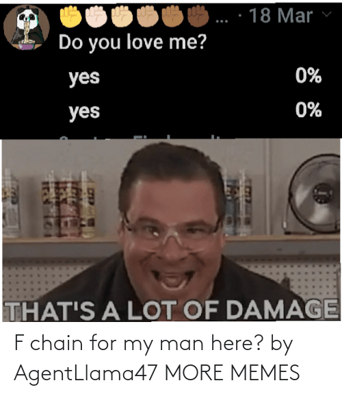 chain: F chain for my man here? by AgentLlama47 MORE MEMES