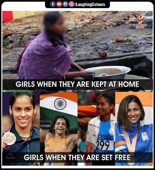 Girls, Free, and Home: f /LaughingColours  LAUGHING  Colours  GIRLS WHEN THEY ARE KEPT AT HOME  299  GIRLS WHEN THEY ARE SET FREE  bida