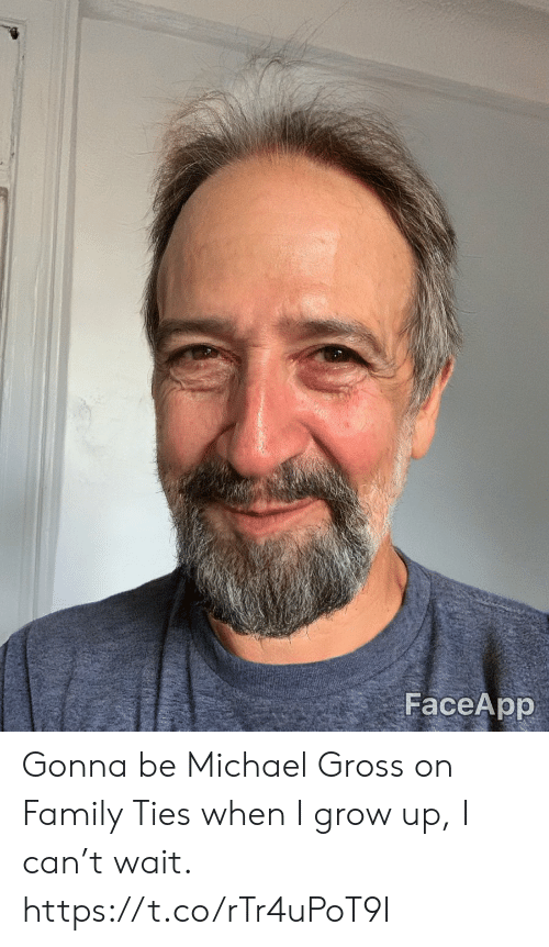 Ties: FaceApp Gonna be Michael Gross on Family Ties when I grow up, I can't wait. https://t.co/rTr4uPoT9I