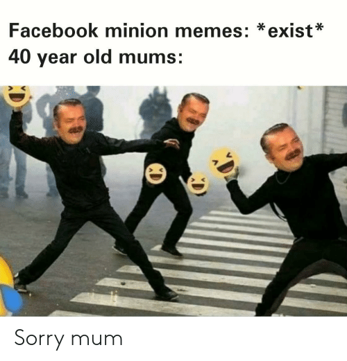 Facebook, Memes, and Sorry: Facebook minion memes: *exist*  40 year old mums: Sorry mum