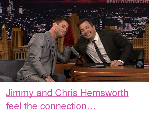 """Chris Hemsworth, Target, and youtube.com: <p><a href=""""https://www.youtube.com/watch?v=tUg-WLRdRv0&amp;t=1s"""" target=""""_blank"""">Jimmy and Chris Hemsworth feel the connection&hellip;</a></p>"""