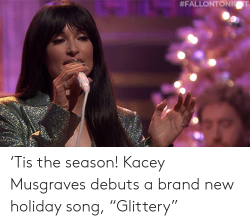 """Target, Youtu, and Blank: 'Tis the season! Kacey Musgraves debuts a brand new holiday song, """"Glittery"""""""