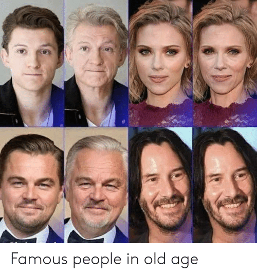 old age: Famous people in old age