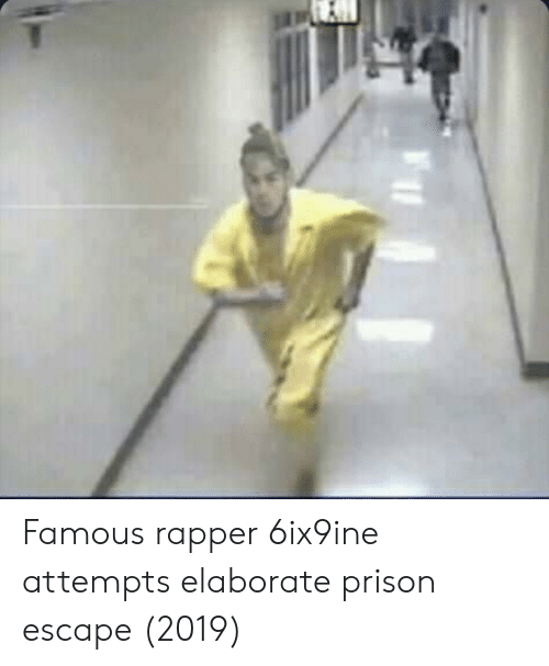 Prison, Rapper, and Famous: Famous rapper 6ix9ine attempts elaborate prison escape (2019)