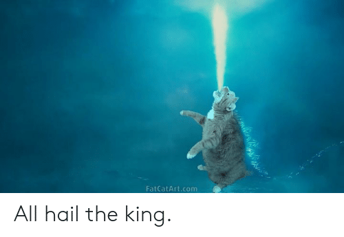Dank, 🤖, and Com: FatCatArt.com All hail the king.