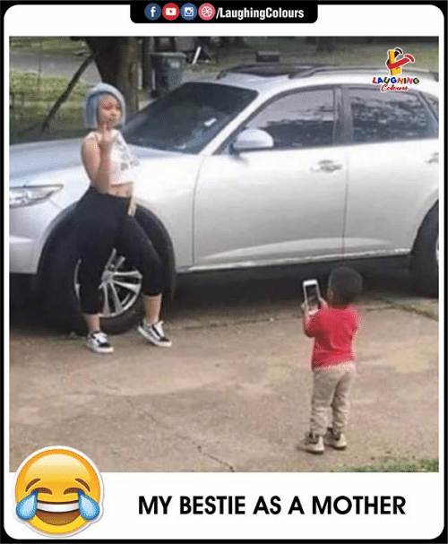 Indianpeoplefacebook, Mother, and Laughing: fD  /LaughingColours  LAUGHING  Colours  MY BESTIE AS A MOTHER