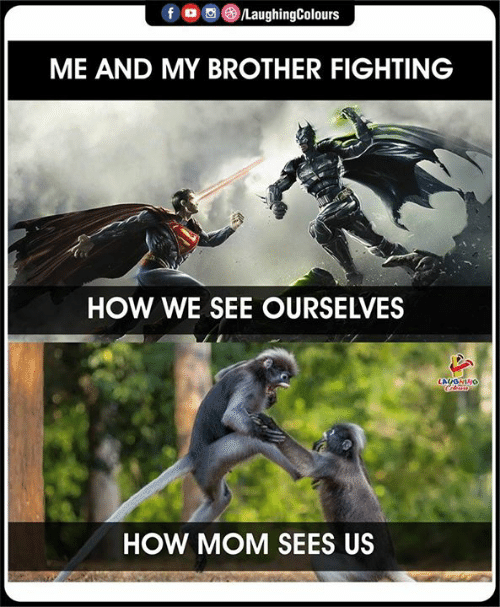 Indianpeoplefacebook, Mom, and How: fD  /LaughingColours  ME AND MY BROTHER FIGHTING  HOW WE SEE OURSELVES  LAUONINO  HOW MOM SEES US