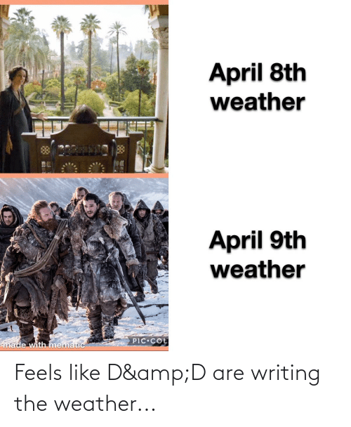 The Weather: Feels like D&D are writing the weather...