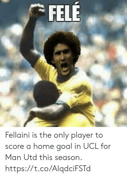 fellaini: FELE Fellaini is the only player to score a home goal in UCL for Man Utd this season. https://t.co/AIqdciFSTd