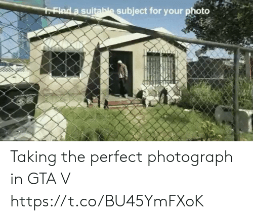GTA V: FFind a suitable subject for your photo Taking the perfect photograph in GTA V https://t.co/BU45YmFXoK