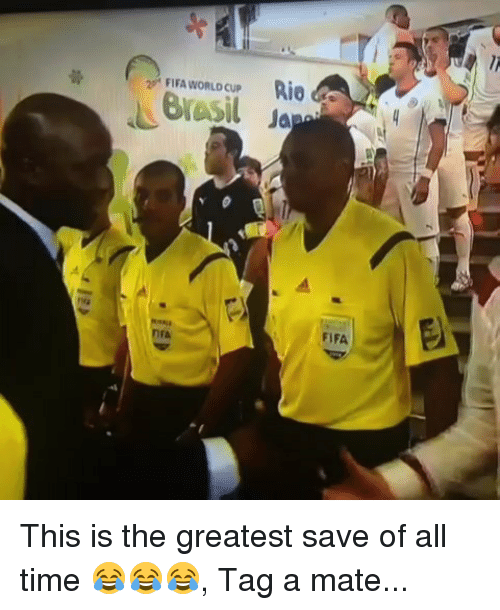 Tag A Mate: FIFA WORLD CUP  R10  FIFA  rA This is the greatest save of all time 😂😂😂, Tag a mate...