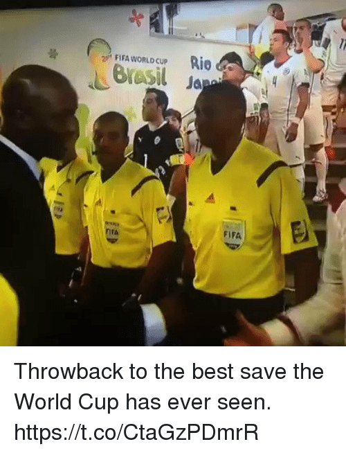Fifa, Soccer, and World Cup: FIFA WORLD CUp Rio  Bresil Ja  FIFA  IFA Throwback to the best save the World Cup has ever seen. https://t.co/CtaGzPDmrR