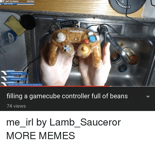 gamecube: filling a gamecube controller full of beans  74 views me_irl by Lamb_Sauceror MORE MEMES