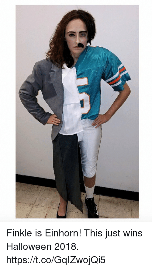 Funny, Halloween, and Wins: Finkle is Einhorn! This just wins Halloween 2018. https://t.co/GqIZwojQi5