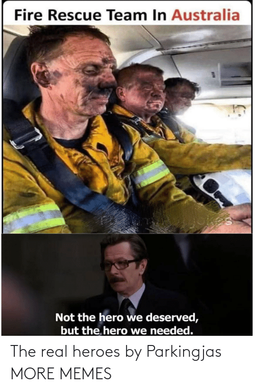 Fire: Fire Rescue Team In Australia  Not the hero we deserved,  but the. hero we needed. The real heroes by Parkingjas MORE MEMES