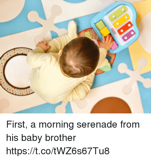 Memes, Baby, and 🤖: First, a morning serenade from his baby brother https://t.co/tWZ6s67Tu8