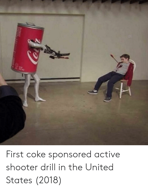 in the united states: First coke sponsored active shooter drill in the United States (2018)