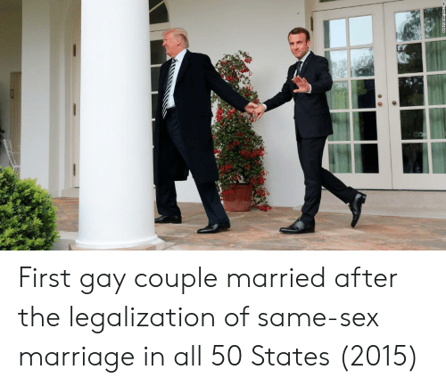 All 50 States: First gay couple married after the legalization of same-sex marriage in all 50 States (2015)