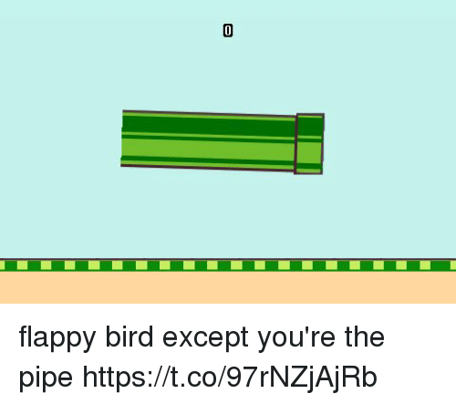 Flappy: flappy bird except you're the pipe https://t.co/97rNZjAjRb
