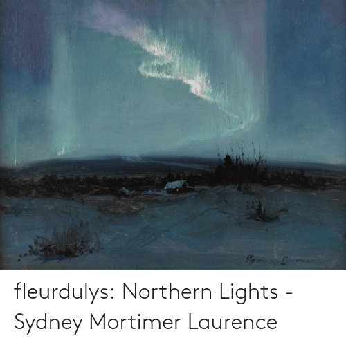 Northern: fleurdulys:  Northern Lights - Sydney Mortimer Laurence