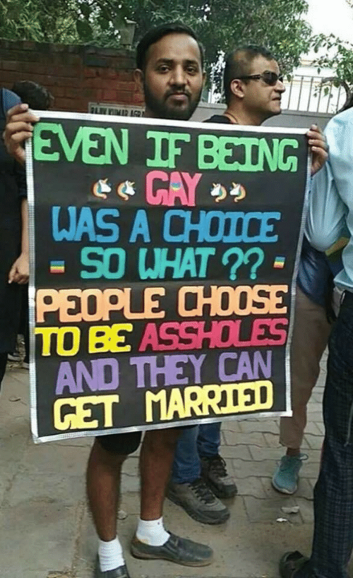 choose: FLIMR AGR  GEVEN IF BEING  WAS A CHOICE  SO WHAT ?? -  PEOPLE CHOOSE  TO BE ASSHOLES  AND THEY CAN  GET MARRIED