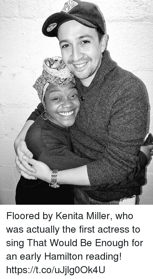 Memes, 🤖, and Hamilton: Floored by Kenita Miller, who was actually the first actress to sing That Would Be Enough for an early Hamilton reading! https://t.co/uJjlg0Ok4U