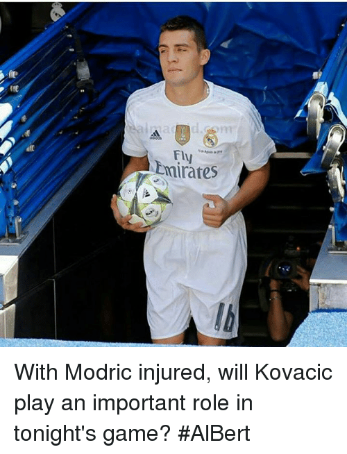 kovacic: fly  at  Emirates  a With Modric injured, will Kovacic play an important role in tonight's game?   #AlBert