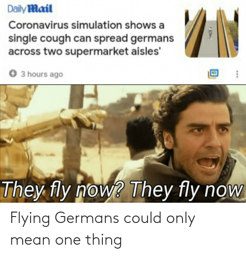 germans: Flying Germans could only mean one thing