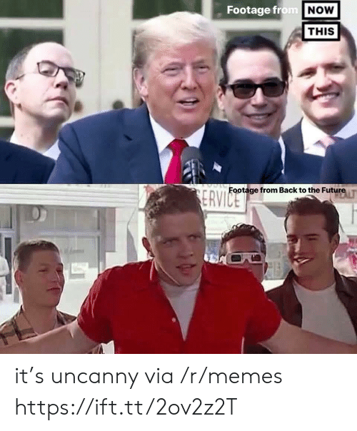uncanny: Footage from NOW  THIS  Footage from Back to the Future  ERVICE it's uncanny via /r/memes https://ift.tt/2ov2z2T