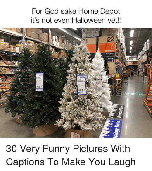 Funny, God, and Halloween: For God sake Home Depot  it's not even Halloween yet!!  221  2 30 Very Funny Pictures With Captions To Make You Laugh