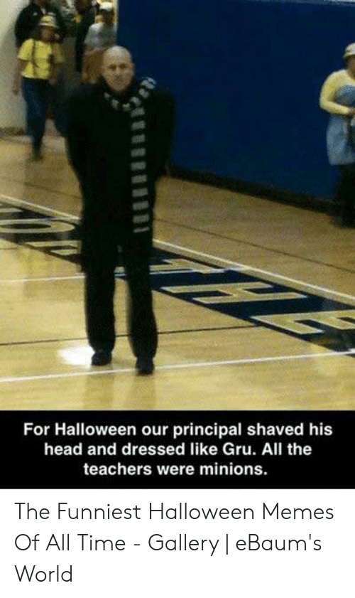 For Halloween Our Principal Shaved His Head and Dressed Like