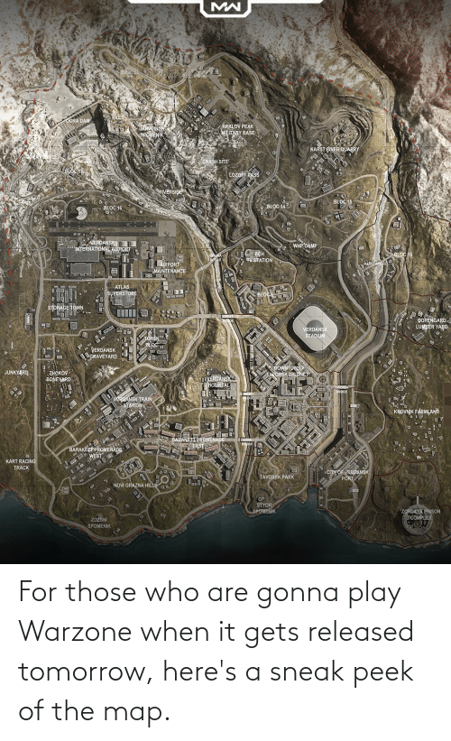 sneak peek: For those who are gonna play Warzone when it gets released tomorrow, here's a sneak peek of the map.